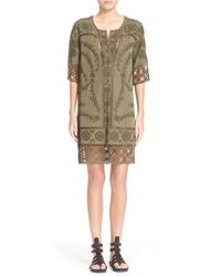 Sea | Green Broderie Anglaise Shirtdress | Lyst