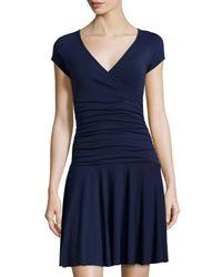 Anatomie - Blue Monika Short-sleeve V-neck Dress - Lyst