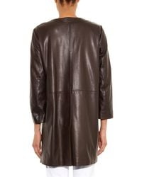 Weekend by Maxmara Brown Magda Leather Coat