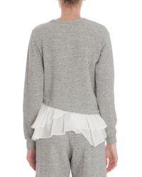 CLU - Gray Asymmetrical Sweatshirt - Lyst