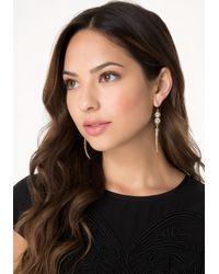 Bebe Metallic Crystal & Horn Earrings