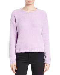 Lord & Taylor Natural Boxy Chenille Pullover