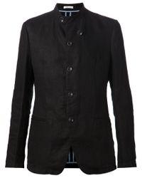 Armani - Black Band Collar Blazer for Men - Lyst