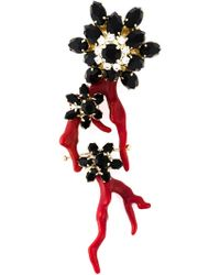 DSquared² - Red Floral Single Earring - Lyst