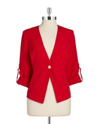 Calvin Klein | Red Plus One-Button Blazer | Lyst