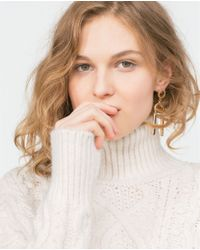 Zara | Natural Cable Knit Sweater | Lyst