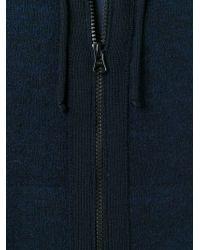 Stone Island - Blue Zipped Hoodie for Men - Lyst