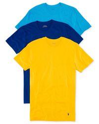 Polo Ralph Lauren Blue Jersey Crew-neck T-shirt 3-pack for men