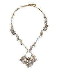 Lulu Frost - Metallic Vine Cactus Flower Necklace - Lyst