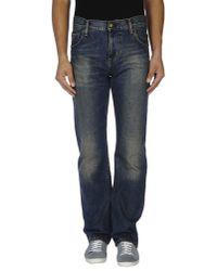 Carhartt - Blue Denim Trousers for Men - Lyst