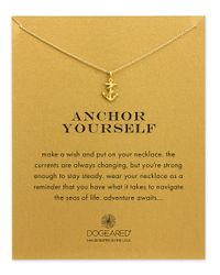 Dogeared | Metallic Reminder Anchor Yourself Sterling Silver Pendant Necklace | Lyst