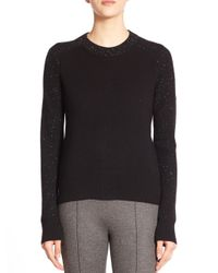 Rag & Bone - Black Catherine Speckled Cashmere Sweater - Lyst