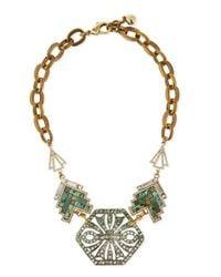 Lulu Frost - Metallic Ortiga Mosaic Statement Necklace - Lyst