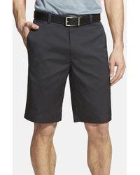 Nike | Black Flat Front Golf Shorts for Men | Lyst