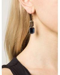 Rebecca - Metallic 'elizabeth' Pendant Earrings - Lyst