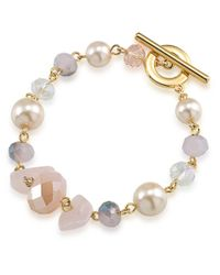 Carolee | Metallic Gemstone Garden Mixed Bead Bracelet | Lyst