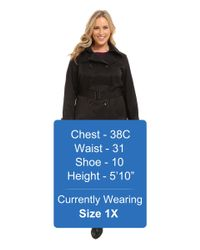 MICHAEL Michael Kors - Black Plus Size Double-breasted Trench - Lyst