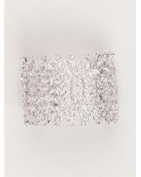 Joanna Laura Constantine   Metallic Crystal Leaf Cuff   Lyst