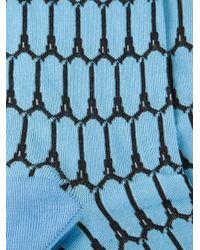 KENZO - Blue Eiffel Socks for Men - Lyst