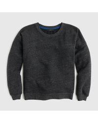 J.Crew - Black Brushed Fleece Sweatshirt - Lyst