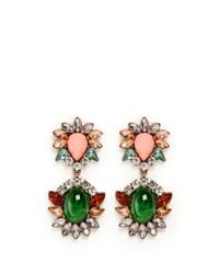Kenneth Jay Lane - Multicolor Crystal And Stone Drop Earrings - Lyst