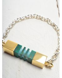 Lily Kamper Green Side Column Bracelet - Last One