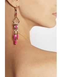 Isabel Marant - Pink Yakata Gold Tone Howlite And Resin Earrings - Lyst