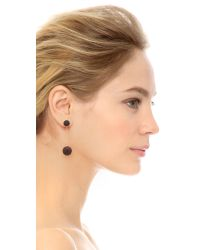 Marc By Marc Jacobs Pave Ball Earrings - Black/oro