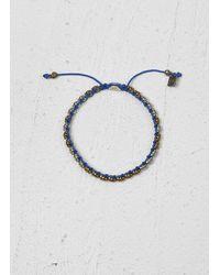 John Varvatos | Blue Single Row Brass Skull Bracelet for Men | Lyst