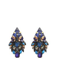 Erickson Beamon - Blue Talitha Earrings - Lyst