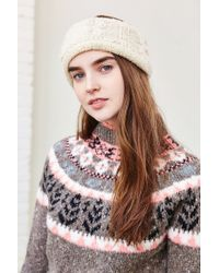 Urban Outfitters White Cozy Cable Knit Earwarmer