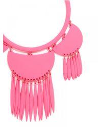 BaubleBar - Fluoro Tassel Dreamcatcher Bib - Pink - Lyst