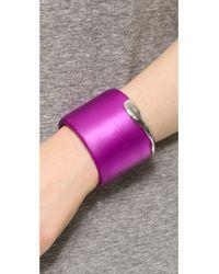 Alexis Bittar Liquid Metal Edge Cuff Bracelet - Hot Pink