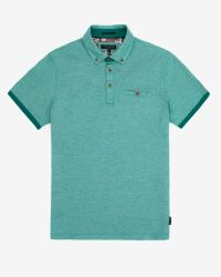 Ted Baker Green Oxford Polo Shirt for men