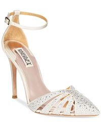 Badgley Mischka | Natural Sirena Evening Pumps | Lyst