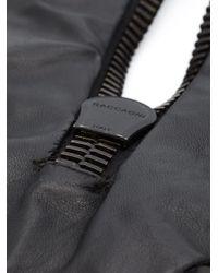 Vera Wang   Black Sequin Zipper Necklace   Lyst