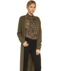Torn By Ronny Kobo - Green Alexi Cashmere Duster - Lyst