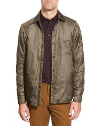Apolis | Green 'transit Issue' Water Resistant Nylon Shirt Jacket for Men | Lyst