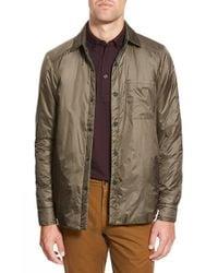 Apolis Green 'transit Issue' Water Resistant Nylon Shirt Jacket for men