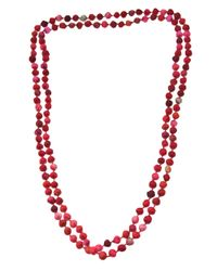 Dosa | Pink Channa Beads Necklace | Lyst