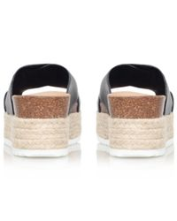 Carvela Kurt Geiger Black Kool Flatform Sandals