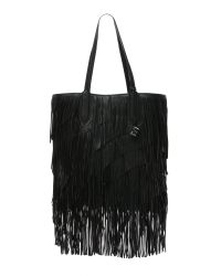 Elizabeth and James | Black Scott Fringe Tote - Camel | Lyst
