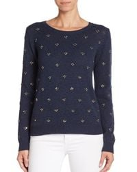 Joie | Blue Myron Embellished Wool & Cashmere Sweater | Lyst