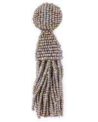 Oscar de la Renta | Metallic Bead Tassel Earrings | Lyst