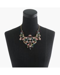 J.Crew - Blue Crystal Lace Necklace - Lyst