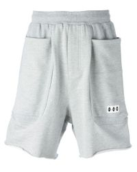 P.a.m. Perks And Mini Gray Pocket Detail Track Shorts for men