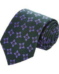 Richard James | Green Medallion-Pattern Jacquard Necktie for Men | Lyst