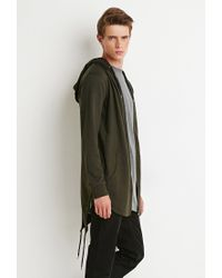 Forever 21 | Green Longline Fishtail Hoodie for Men | Lyst