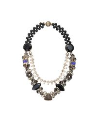 Tataborello - Black Leda Necklace - Lyst