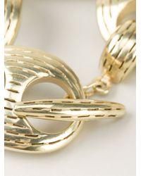 Vaubel | Metallic Chunky Ridge Chain Bracelet | Lyst